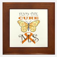 FIND THE CURE FOR MS Framed Tile