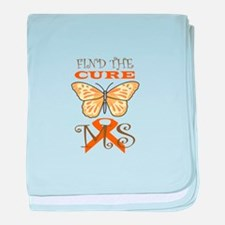 FIND THE CURE FOR MS baby blanket