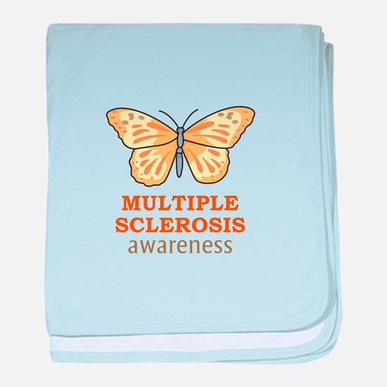 MULTIPLE SCLEROSIS AWARENESS baby blanket