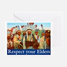 RESPECT YOUR ELDERS Greeting Card