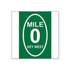 "Cute Key west Square Sticker 3"" x 3"""