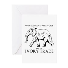 Elephant Ivory Greeting Cards