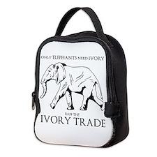Elephant Ivory Neoprene Lunch Bag