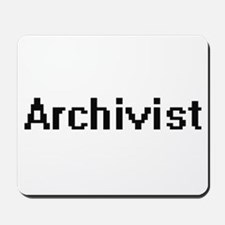 Archivist Retro Digital Job Design Mousepad