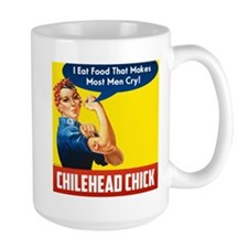 Rosie The Chilehead Riveter Large Mugs