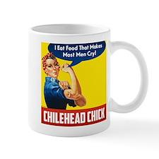Rosie The Chilehead Riveter Mugs