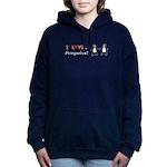 I Love Penguins Women's Hooded Sweatshirt
