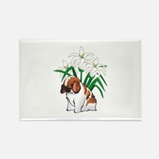 HOLLAND LOP AND LILIES Magnets
