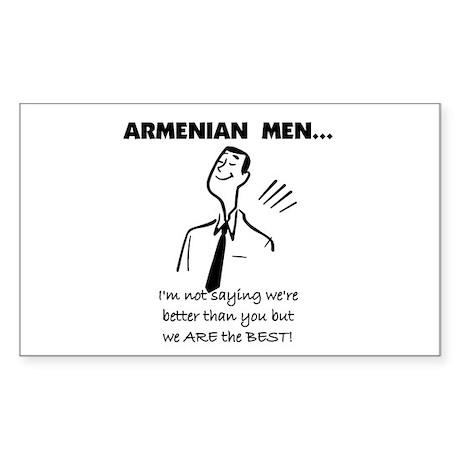 Armenian Men Rectangle Sticker