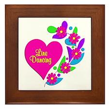 Line Dancing Heart Framed Tile