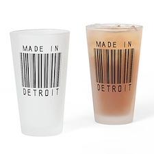 Detroit barcode Drinking Glass
