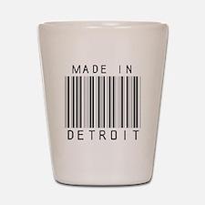 Detroit barcode Shot Glass