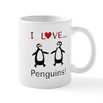 I Love Penguins Mug