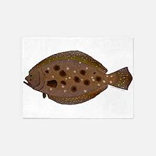Summer Flounder 5'x7'Area Rug