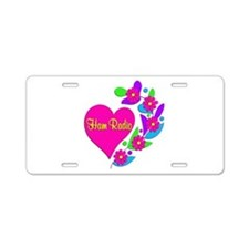 Ham Radio Heart Aluminum License Plate