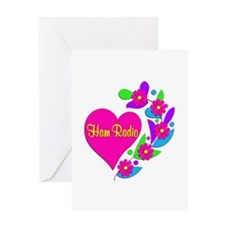 Ham Radio Heart Greeting Card