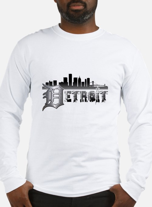 Detroit Skyline Long Sleeve T-Shirt