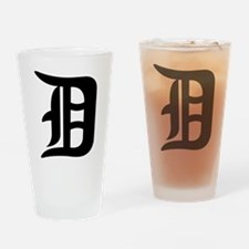 Cute Detroit Drinking Glass