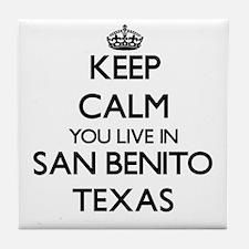 Keep calm you live in San Benito Texa Tile Coaster