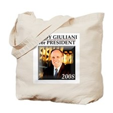 Rudy Giuliani for President '08  Tote Bag