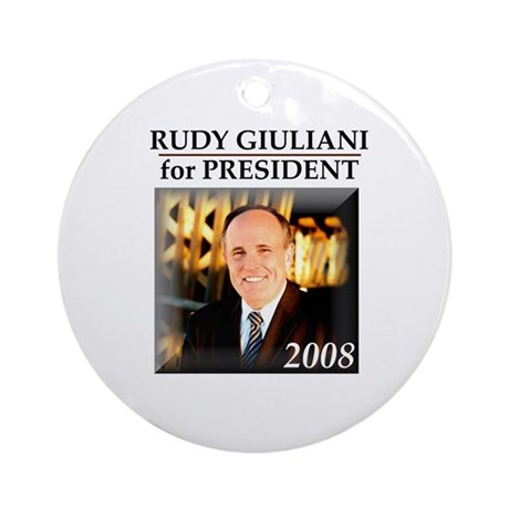 Rudy Giuliani for President '08 Ornament (Round)