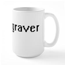 Engraver Retro Digital Job Design Mugs