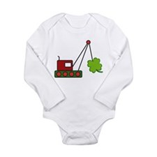 Funny The crane Long Sleeve Infant Bodysuit