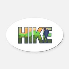 HIKE Oval Car Magnet