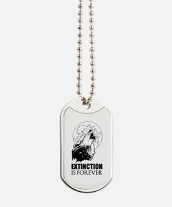 Howling Wolf Dog Tags