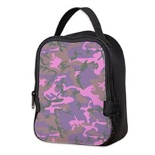 Pink Camouflage Neoprene Lunch Bag