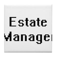 Estate Manager Retro Digital Job Desi Tile Coaster