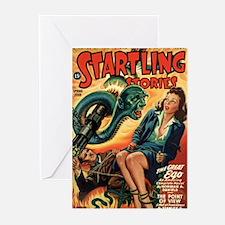STARTLING STORIES-VINTAGE PULP MAGAZINE COVER Gree