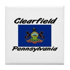 Clearfield Pennsylvania Tile Coaster