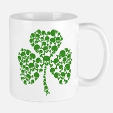 St Patricks Day Shamrock Skulls Mugs