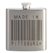 Pittsburgh Barcode Flask