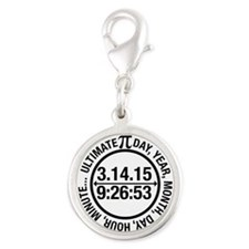 Ultimate Pi Day 2015 Silver Round Charm
