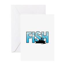 LARGE FISH Greeting Cards