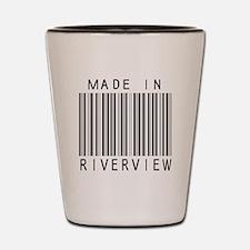 Riverview Barcode Shot Glass