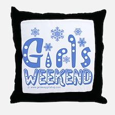 Snow Winter Getaway Throw Pillow