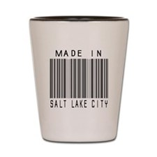 Salt Lake City Barcode Shot Glass