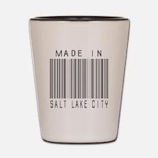 Salt Lake City Barcode Shot Glass