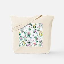 Delicate Floral Pattern Tote Bag