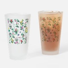 Delicate Floral Pattern Drinking Glass