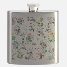 Delicate Floral Pattern Flask