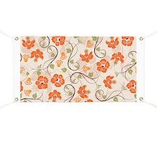 Seamless Flower Pattern Banner