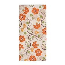Seamless Flower Pattern Beach Towel