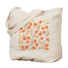 Seamless Flower Pattern Tote Bag