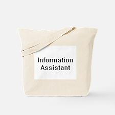 Information Assistant Retro Digital Job D Tote Bag