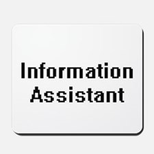 Information Assistant Retro Digital Job Mousepad