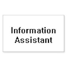 Information Assistant Retro Digital Job De Decal
